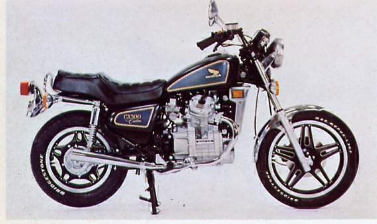 Honda CX 500 Custom (reduced effect)